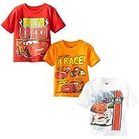 Disney Little Boys' Toddler Cars 3 Pack T-Shirt, Multi, 4T