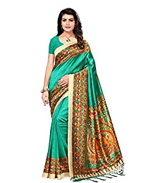Oomph! Art Silk Saree With Blouse Piece