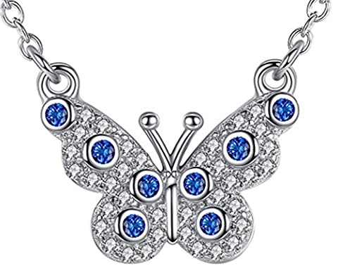 SaySure - 925 Sterling Silver Necklaces Blue Crystal