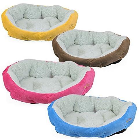 Beauty Pet ® Panier pour chien et chat 58 x 45 x 17 cm avec fond amovible - Quatre coloris - Norme CE