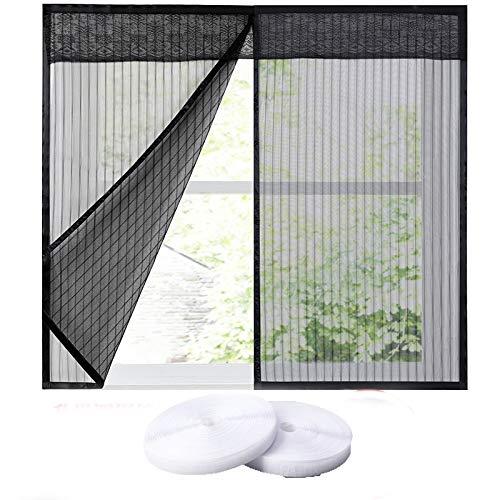 Tomkity zanzariera magnetica nero 100x140cm per porte finestre chiusura automatica senza zanzare mosche insetti balcone finestre