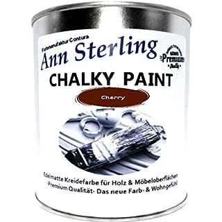Ann Sterling Kreidefarbe Shabby Chic Farbe: Cherry / Rot 1Kg. / 750ml. Lack Chalky Paint