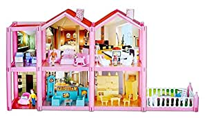 Toyshine DIY 136 Pcs Doll House, Accessories Included