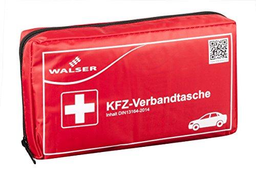 Preisvergleich Produktbild Walser 44264 KFZ PKW Auto Verbandstasche Verbandskasten mit Reißverschluss Erste Hilfe nach der DIN 13164 Norm