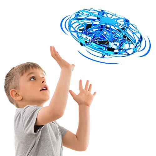 EUTOYZ Geschenke für Mädchen Jungen ab 3-12 Jahre, Flying Spielzeug für Kinder Fliegend Ball Drohnen für Kinder Outdoor Spielzeug für Jungen Mädchen Spielzeug ab 3-10 Jahre Geburtstagsgeschenk (Blau)