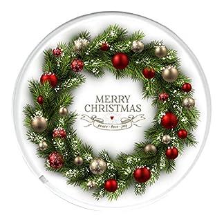 Unique vino, bebidas posavasos para la Navidad mesa de comedor para corona de Navidad con una imagen.