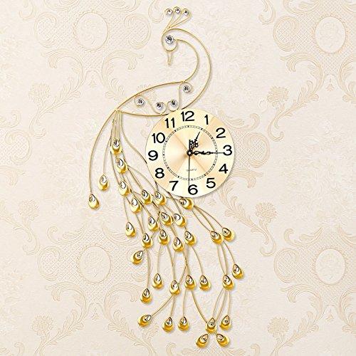 KHSKX-Der Pfau Uhr Uhr Großes Wohnzimmer Uhr Modernen Minimalistischen Quarz - Uhr Europäische...