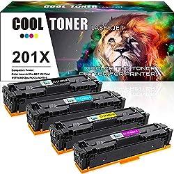 Cool Toner Kompatibel Toner Cartridge Replacement für HP 201X 201A CF400X CF400A für HP Color Laserjet Pro MFP M277dw M252dw M277n Laserjet Pro M252n M274n M277 M252 M277c6