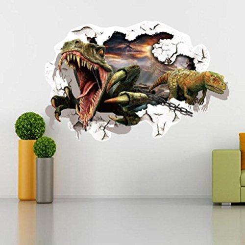 FTXJ Autocollant Mural, 3D Réaliste Pièce Sol Mur Porte Autocollant Décoration de la Maison 34.7 * 25.4cm b