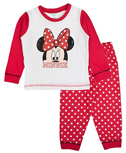Baby Girls Pyjamas Minnie Mouse White/Red 18-24 Months