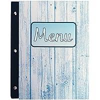 Titular de menú Tamaño A4 Restaurante Pub, Hotel Club, Cubierta del titular del menú Tamaño A4, estilo marino (Marina 2)