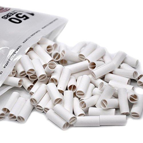 Doublehero 150Pcs Hornet Pro gerollte Spitzen natürlich vorgerollt für Zigaretten-Rollenpapier 6MM (18mm*6mm)