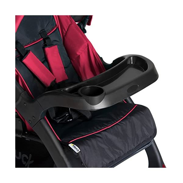 Hauck Shopper Neo II, Folding Pushchair from Birth to 25 kg, Lightweight with Lying Position, Two Cupholder Trays, One Hand Fold, Caviar/Tango Hauck Fold in seconds with one hand Comfortable seat with lying position and adjustable footrest Includes 2 practical bottle trays 9