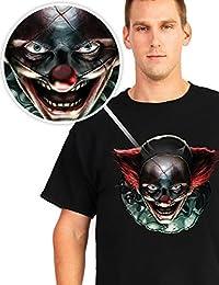 Digital Dudz Bewegliche Augen T-Shirt Halloween Verrückter Clown