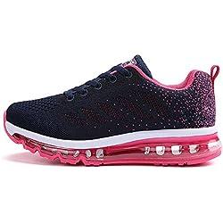 TQGOLD Zapatillas de Deportes Hombre Mujer Zapatos Deportivos Running Zapatillas para Correr (Rosado,41 EU)