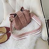OME&QIUMEI Handtasche Schultertasche Freizeitaktivitäten Bucket Bag Pink