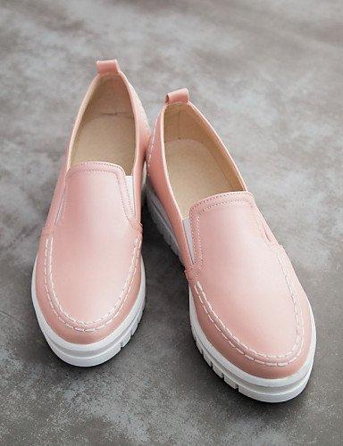 ZQ gyht Scarpe Donna - Mocassini - Ufficio e lavoro / Formale / Casual - Punta arrotondata - Basso - Finta pelle - Nero / Blu / Rosa / Bianco , pink-us10.5 / eu42 / uk8.5 / cn43 , pink-us10.5 / eu42 / pink-us2.5 / eu32 / uk1 / cn31
