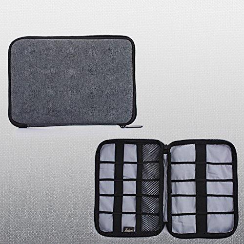 thinkels-tech Universal Double Layer Multifunktionale Travel Gear Aufbewahrung Tragetasche Schutz Tasche Organizer Fall Tasche f¨¹r U Disk Flash Drive SD Karte (Double-layer Unten)