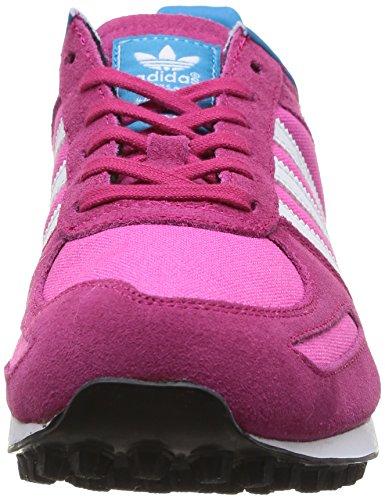 Adidas La Trainer K filles, suède, sneaker low Rose/Blanc