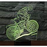 Fushoulu 3D Led Nachtlichtfahrt Auf Einem Fahrrad Mountainbike Mit 7 Farben Licht Für Heimtextilien Lampe Erstaunliche Visualisierung Optisch