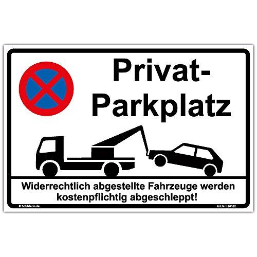 "Schild\""Privatparkplatz\"" Hinweisschild 300x200 mm stabile Aluminiumverbundplatte 3mm stark"