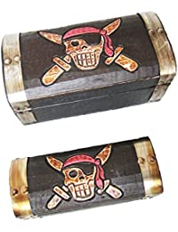 Pirate Treasure Chest wooden storage box for trinkets or jewellery