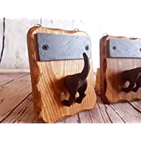 Personalised Dog lead Hook & name plaque. Handmade, from reclaimed wood. A Perfect mothers day gift for dog Lover