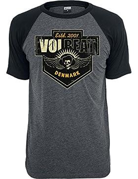 Volbeat Cross T-Shirt grau meliert/schwarz