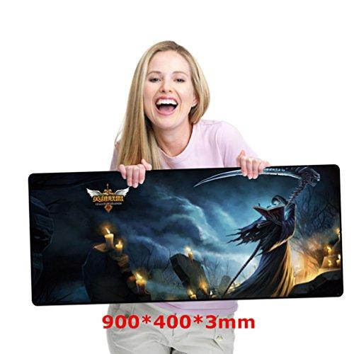 gaming-maus-pad-gross-grosse-90-40-03-cm-wasserabweisend-schwarz-mauspad-mit-rutschfester-gummiunter