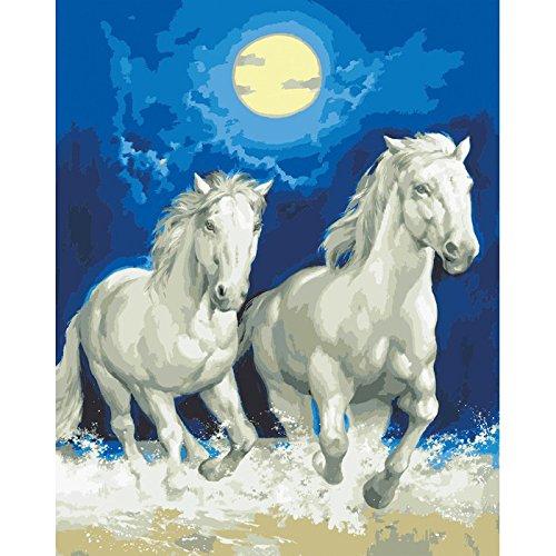 Collection D'Art CD11857 Leinwand für Stiekerei mit gedruckten Muster, Gobelin, Baumwolle, antik, 50 x 60 x 0,1 cm (Gobelin-bank)