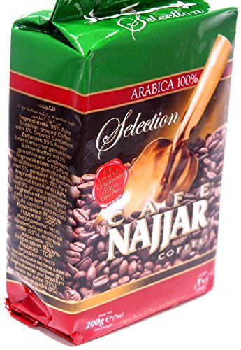 Najjar caffè Arabica 100% con il cardamomo in polvere 200g