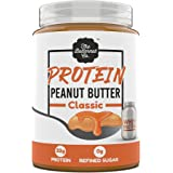 The Butternut Co. Protein Peanut Butter Classic, 925 Gm ( 32G Protein, No Refined Sugar, Whey Protein Isolate )