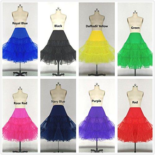 "Omela Damen 50er 26"" Jahre Petticoat Vintage Retro Reifrock Petticoat Unterrock fur Wedding bridal Petticoat Rockabilly Kleid Rosa"