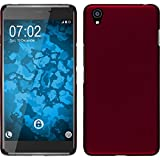 PhoneNatic Case für OnePlus X Hülle rot gummiert Hard-case + 2 Schutzfolien