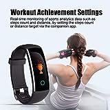 XUEME Fitness-Tracker, IP67 Wasserdichte intelligente Farbuhr Herzfrequenz Überwachung USB-Lade-Lade-Bluet-Bluet-Bluet-Bluet-Sport-Armband,Black