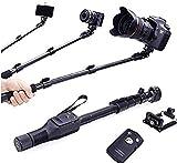 #5: SG Retails Hub Bluetooth Selfie Stick for Smartphones, Action Camera and Digital Camera - Black