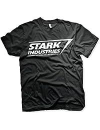 Officially Licensed Stark Industries Logo Mens T-Shirt (Black)