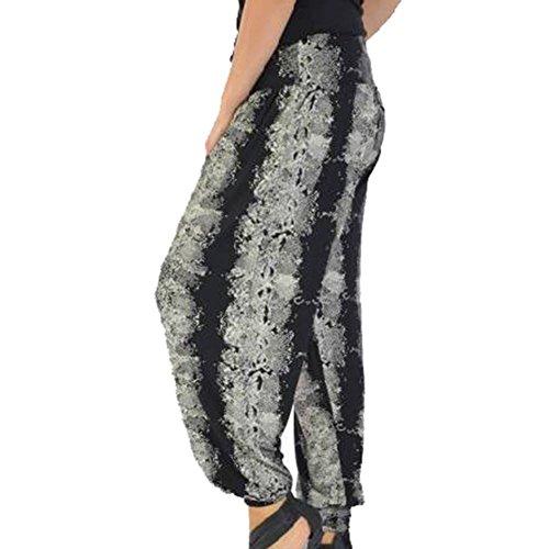 brought to you by sendit4me Black/brown snake print harem/lounge pants (Hose Snake Print)