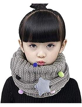 DUSISHIDAN Kinder Halstuch Loop Schal Baby Mädchen Schlauchschal mit Stern [Geschenk für Weihnachten ]
