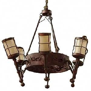 burg kronleuchter schmiedeeisen fackel leuchten deckenlampe mittelalter schloss. Black Bedroom Furniture Sets. Home Design Ideas