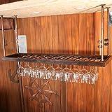Wine Rack - Bar Hanging Weinglas Halter auf den Kopf nach Hause Becherhalter Felice Home (Farbe : Retro Copper, größe : 80cm*30cm)