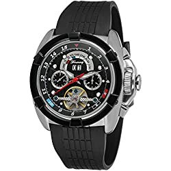 Forsining Mens Automatic Self-wind Calendar Day Brand Wrist Watches FSG291M3T3