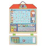 Calendario di ricompensa Magnetica Scheda di Pianificazione Calendario di responsabilità Tabella di comportamento per Bambini Comportamento del Bambino Adesivo da Parete Magneti di ricompensa Ciclo
