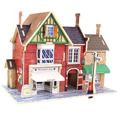 Happy Cherry 3D Puzzle Madera DIY Modelo Creativo Juguete Educativo Juego para Niño Niña - Casa en Reino Unido - Tienda de Sastre