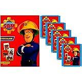 Panini - Feuerwehrmann Sam Sammelalbum + 5 Booster Packungen Sammelsticker 25 Sticker - Deutsche Ausgabe