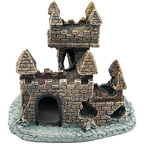 Sikete Resina acquario ornamento antico castello in