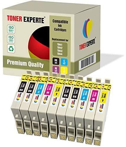10 XL TONER EXPERTE® T0441 T0442 T0443 T0444 Druckerpatronen kompatibel für Epson Stylus C64, C66, C68, C84, C86, CX3600, CX3650, CX4600, CX6400, CX6600 (4 Schwarz, 2 Cyan, 2 Magenta, 2 Gelb) -