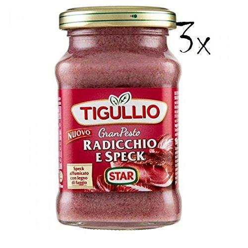 3x Star Tigullio GranPesto Pesto Radiccio e speck 190 g Sauce Soße (Star-soße)