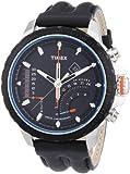Timex Herren-Armbanduhr XL Timex IQ Linear Indicator Chrono Analog Quarz Leder T2P274
