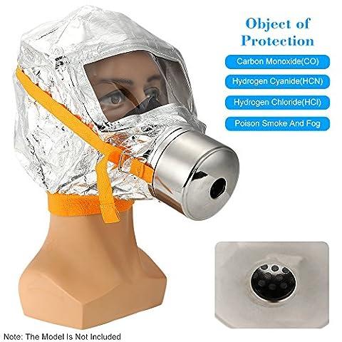 KKmoon Emergency Escape Mask Fire Mask Emergency Escape Mask Oxygen Mask Smoke Gas Mask Self-life-saving Respirator for Home Hotel Shop Market